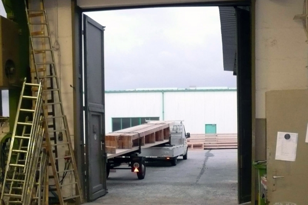 Holbau Steinbach GmbH, Transport Holzbauteile