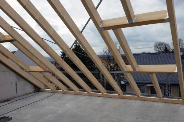 Balkenwerk mit Dachfenster-Ausschnitt, Holzbau Steinbach GmbH