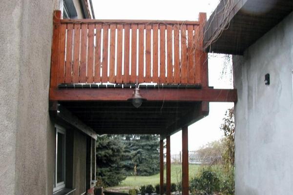 Balkon Eigenheim, Wandbefestigung_Holzbau-Steinbach GmbH